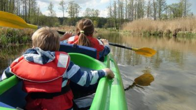 kayaking with children