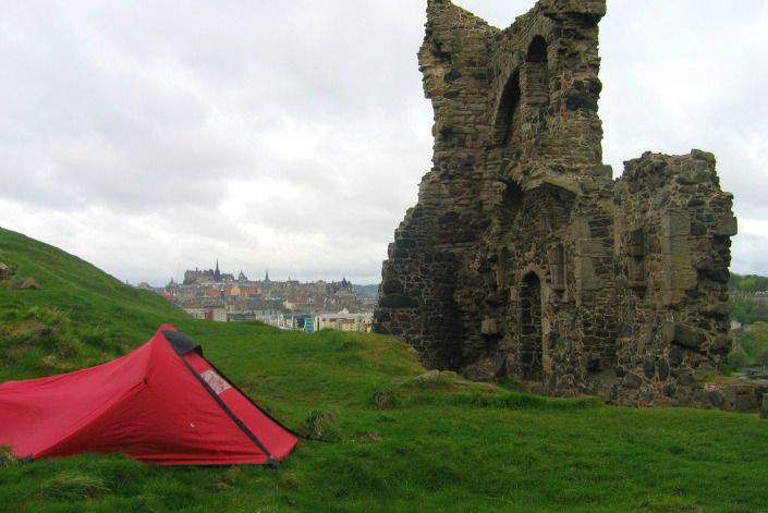Camping in Edinburgh